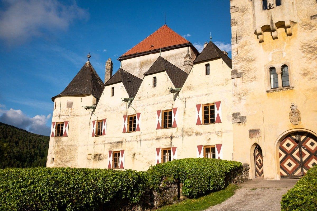 Burg Feistritz Austria - Front of Castle